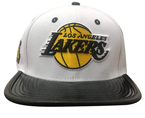 4e601a7ec31 Pro Standard Los Angeles Lakers Concord Patent Leather Vize Strapback  (White Black