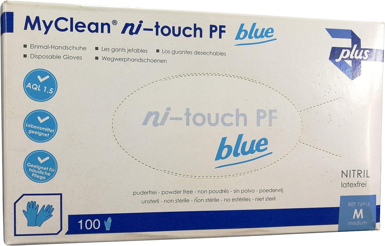 Nitril Handschuhe blau puderfrei Gr M 100 St/ück Einweghandschuhe Einmalhandschuhe Schutzhandschuhe Tattoo med koch Handschuhe einweg Putzhandschuhe