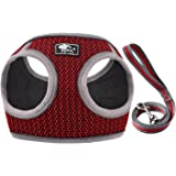 CROWATTS Puppy Harness and Leash Set-Soft Mesh Comfortable Dog Vest Harness,Adjustable Reflective Vest Harness for Small and