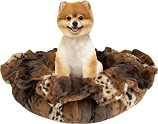product image for Bessie and Barnie Ultra Plush Wild Kingdom Deluxe Luxury Dog/Pet Lily Pod Bed Machine Washable