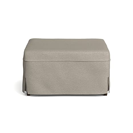 Magnificent Handy Living Space Saving Folding Ottoman Sleeper Guest Bed Gray Brown Twin Machost Co Dining Chair Design Ideas Machostcouk