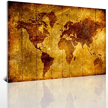 Amazon sunfrower art large 24x36 vintage golden yellow world sunfrower art large 24x36 vintage golden yellow world map plate wall art abstract simple hd gumiabroncs Choice Image