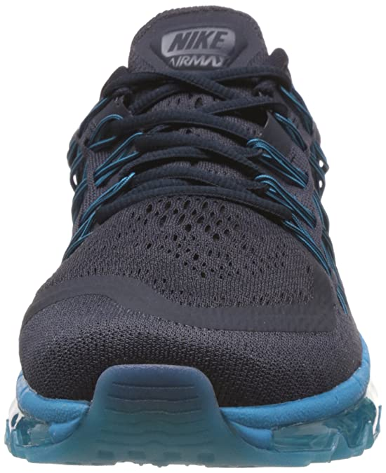 Nike Herren Air Max 2015 Laufschuhe Training Deep Royal BlueBlack Volt Green Streak Schuhgröße