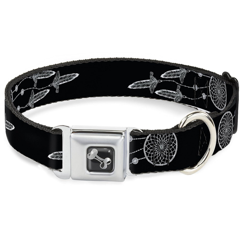 Buckle-Down Dream Catcher Galaxy Black White Dog Collar Bone, Small 9-15