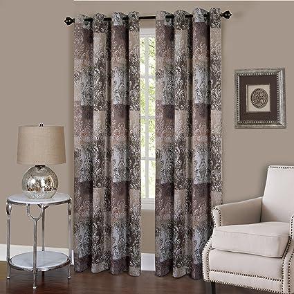 Amazon Com Achim Home Furnishings Vogue Grommet Window Curtain