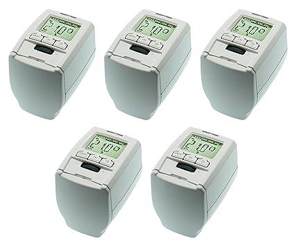 Komforthaus - Termostato de radiador Thermo+, juego de 5 unidades