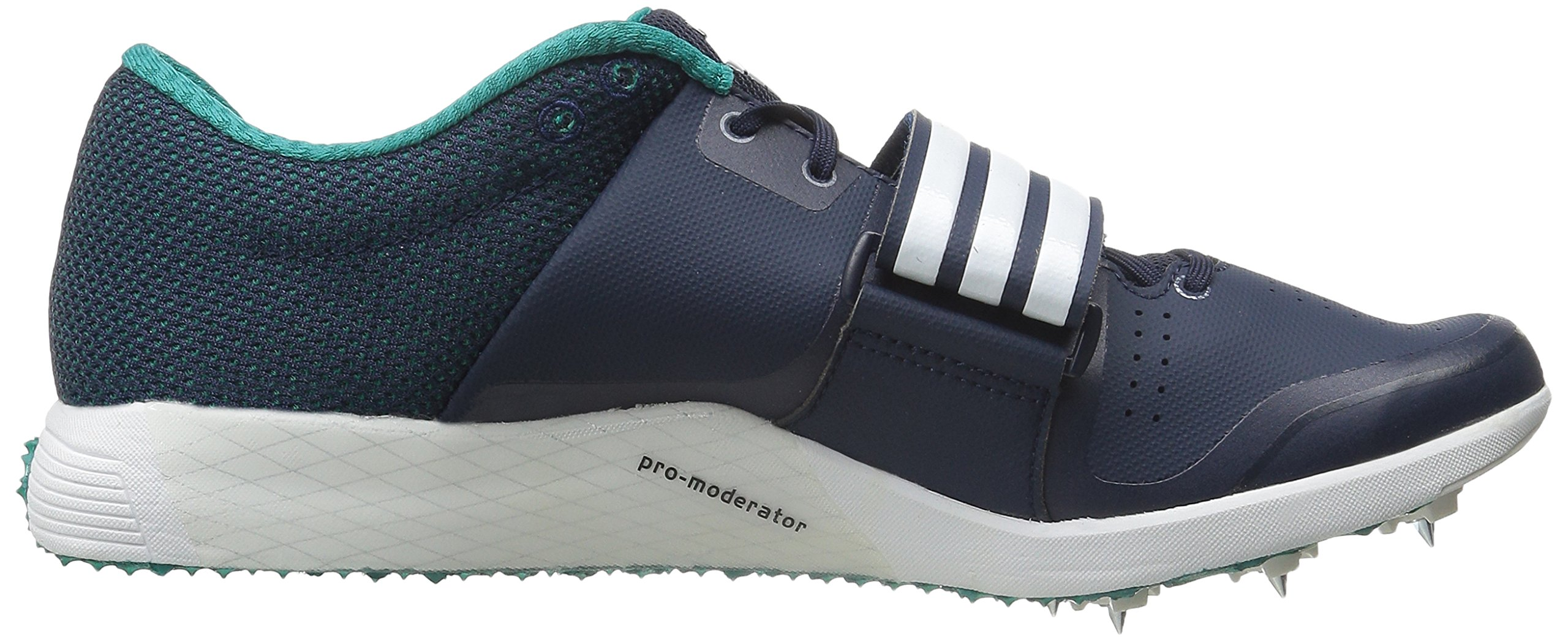 adidas Performance Women's Adizero TJ/PV Running Shoe with Spikes,Collegiate Navy/White/Green,14 M US by adidas (Image #7)