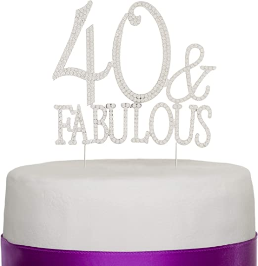 Pleasant 40 Fabulous Cake Topper For 40Th Birthday Party Supplies Funny Birthday Cards Online Elaedamsfinfo