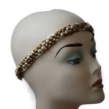 df5179cce9b32f PRETTYSHOP Zopf Haarteil Haarband Stirnband Haarschmuck geflochten div.  Farben HZ12-2