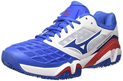 Herren Wave Intense Tour CC Tennisschuhe, Multicolore (White/Strongblue/Chinesered), 40 EU Mizuno
