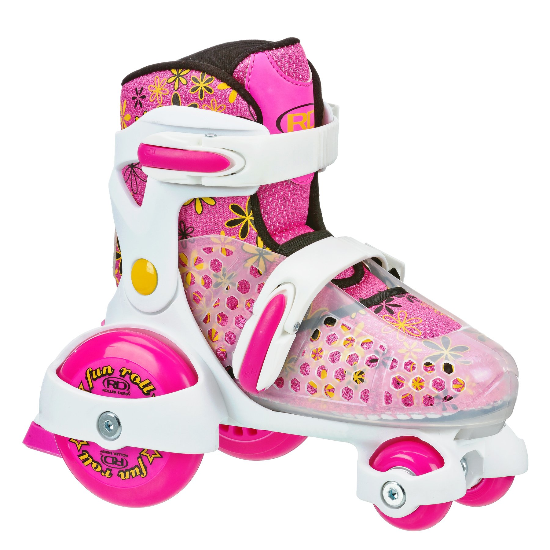 Roller Derby Girl's Fun Roll Adjustable Roller Skate, Small (7-11) by Roller Derby
