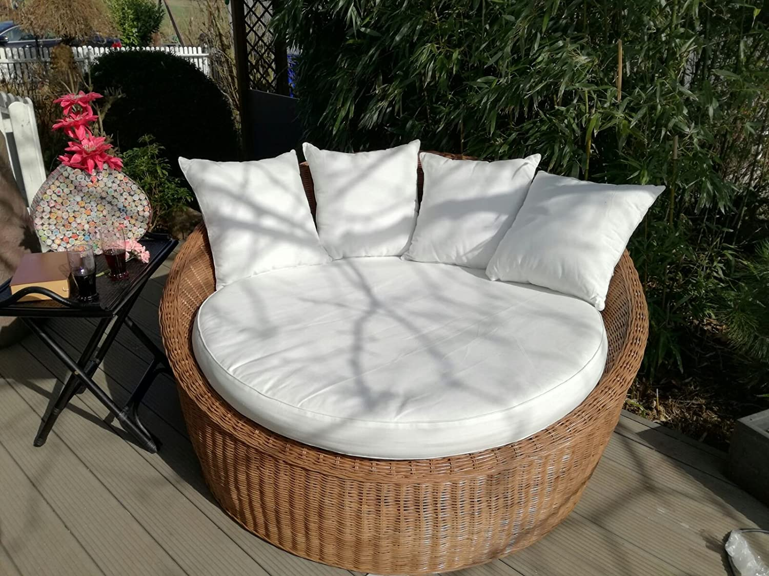 Xxl sessel günstig  Honeymoon Sessel aus 100% Natur Rattan, Loungesessel, XXL-Sessel ...