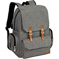 ALLCAMP Diaper Backpack with Changing Pad (Grey)