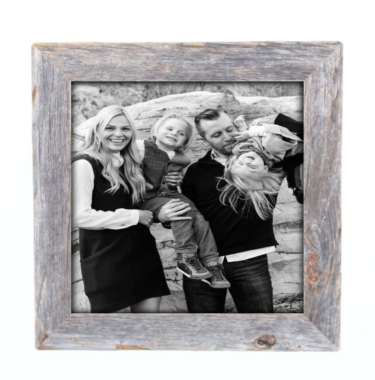 Reclaimed barnwood rustic picture frame - comes in a variety of sizes