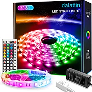 32.8ft Led Lights dalattin Led Strip Lights Color Changing Lights with 44 Keys Remote,1 Roll of 32.8ft