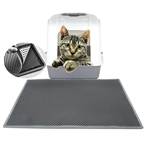 48477a139 Amazon.com : Cat Litter Mat Double-Layer Honeycomb Litter Trapper With  Exclusive Urine/Waterproof Layer 24