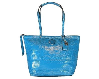 a9879519b3ad ... canada coach signature stitch patent leather tote 149e9 99cf8