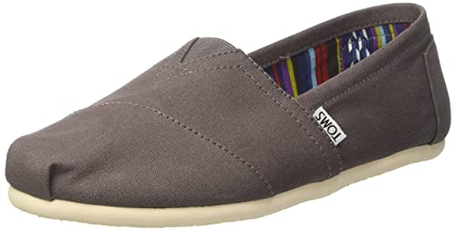 Amazon.com | TOMS Mens Alpargata Canvas Ash Ankle-High Flat Shoe - 12M | Fashion Sneakers
