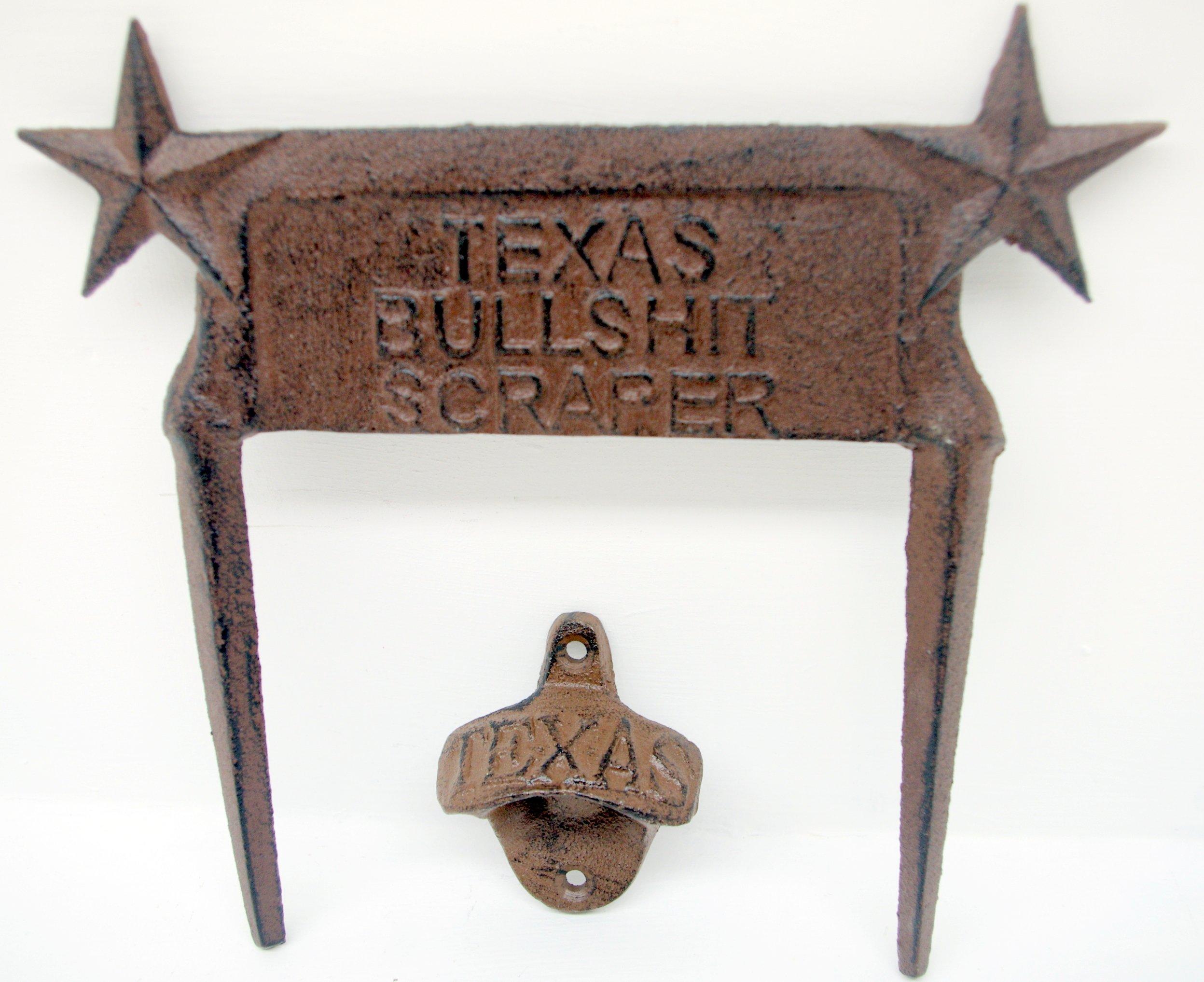 Cast Iron Texas Bullshit Scraper & Texas Bottle Opener BUNDLED!