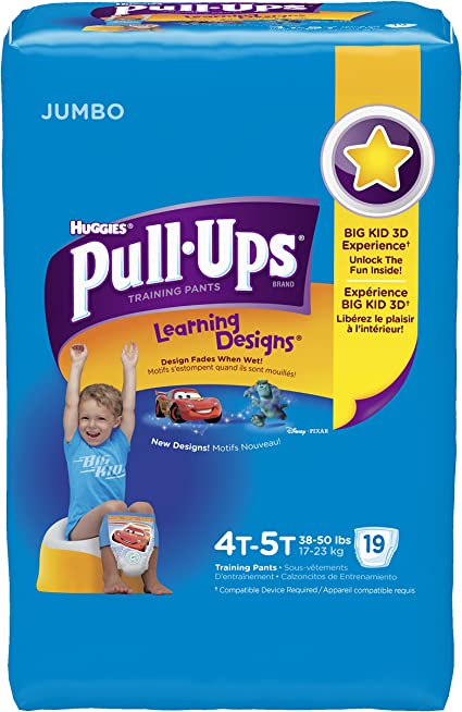 Pull-Ups Learning Designs Training Pants 4T-5T Boy 19-Count Jumbo Pack