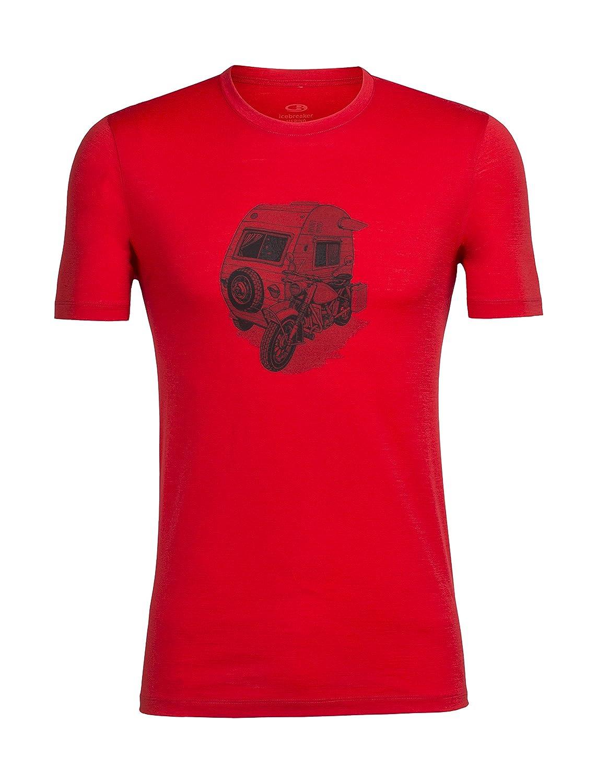 Camper Rocket L Icebreaker Merino Men's Tech Lite TShirt W Graphic, Merino Wool