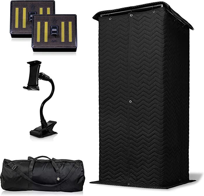 Snap Studio Voice Booth – Portable Vocal Booth – 360-Degree Sound Dampening Acoustic Isolation Stand