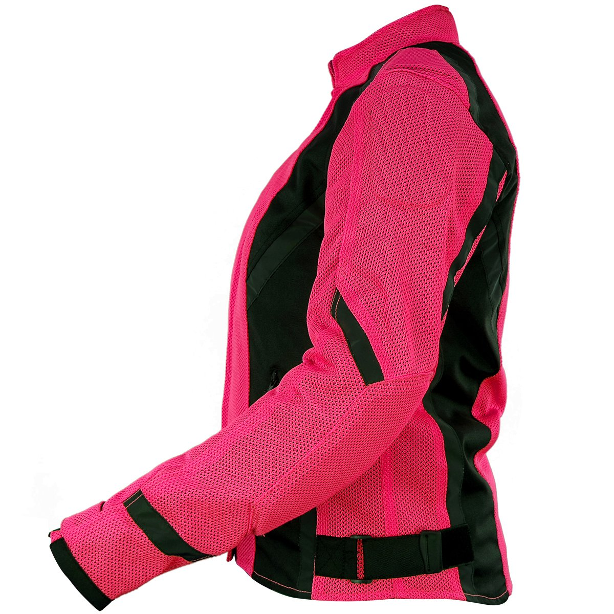 Xelement XS3044 Impulse Womens Black//Hot Pink Mesh Tri-Tex Armored Motorcycle J Large