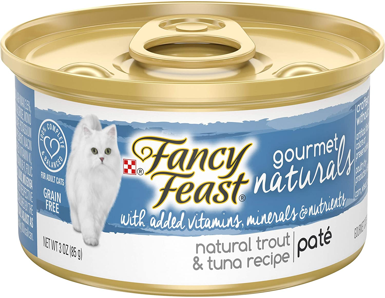 Purina Fancy Feast Gourmet Naturals Grain Free Pate Adult Canned Wet Cat Food