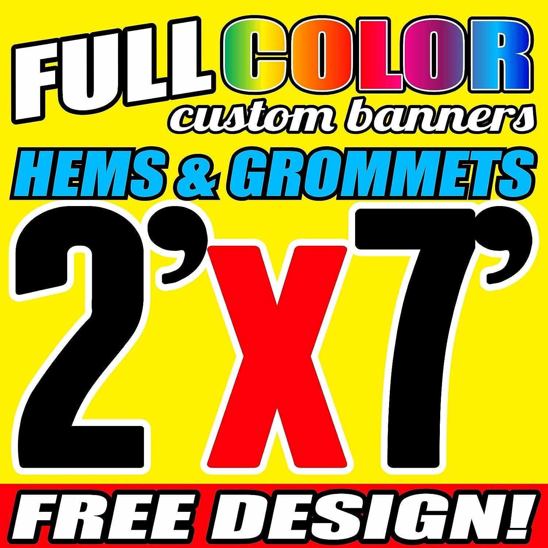 Design Included 13 oz FULL COLOR Free Shipping 3/'x 5/' Custom Vinyl Banner