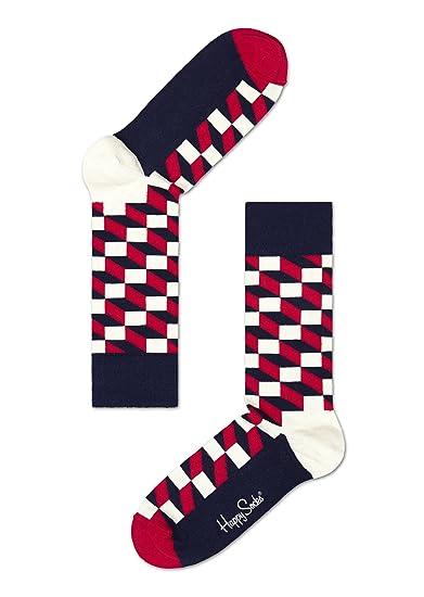 Happy Socks Filled Optic - Calcetines 100 den unisex: Amazon.es: Ropa y accesorios