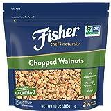FISHER Chef's Naturals Chopped Walnuts, 10 oz, Naturally Gluten Free, No Preservatives, Non-GMO