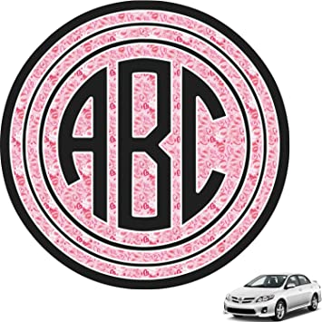 Amazoncom Lips N Hearts Circle Monogram Car Decal Personalized - Monogram car decal amazon