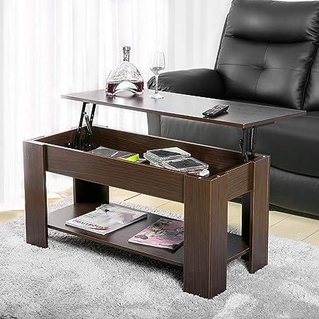 Herman Table Basse Relevable Avec Rangement Et étagère Pour
