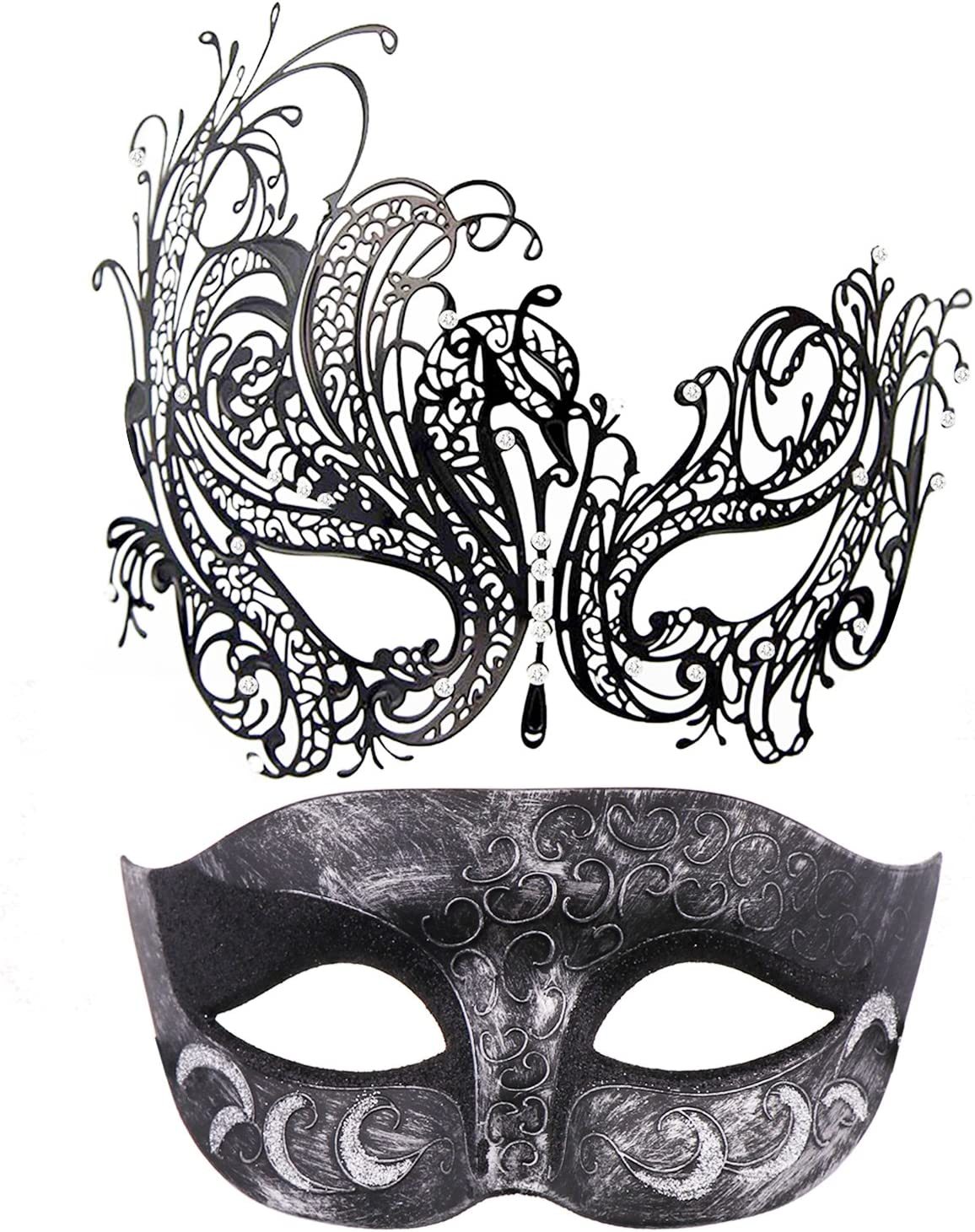Black Lace Mardi Gras Festival Masquerade Burlesque Mask
