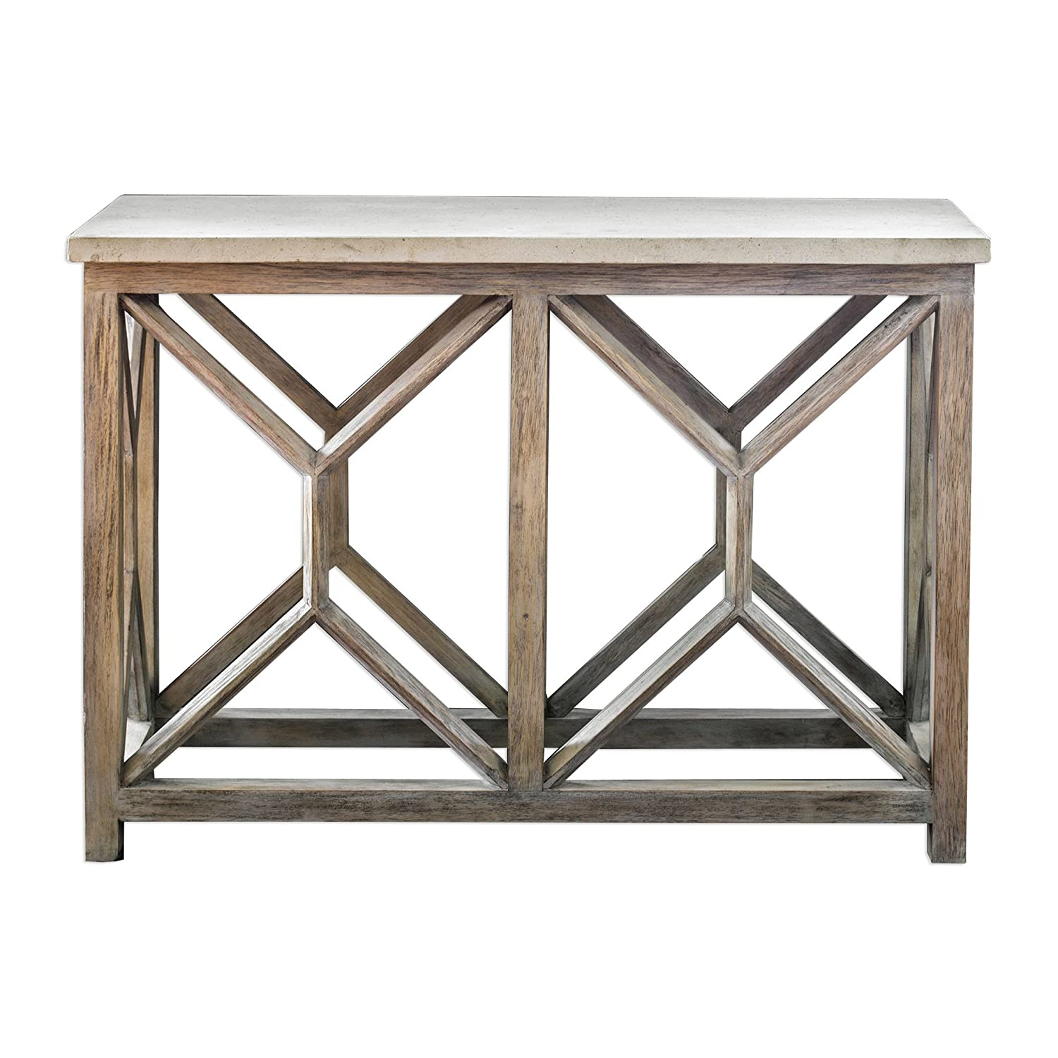 Amazon.com  Open Light Weathered Wood Console Table  a7ddd1fccfc6