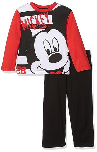 Mickey Mouse Long Pyjama, Conjuntos de Pijama para Niños, (Red/Black), 2 años: Amazon.es: Ropa y accesorios