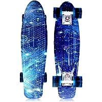 SOLOMONE CAVALLI Retro Skateboards - Mini Tabla de Skateboard de plástico de 22 Pulgadas