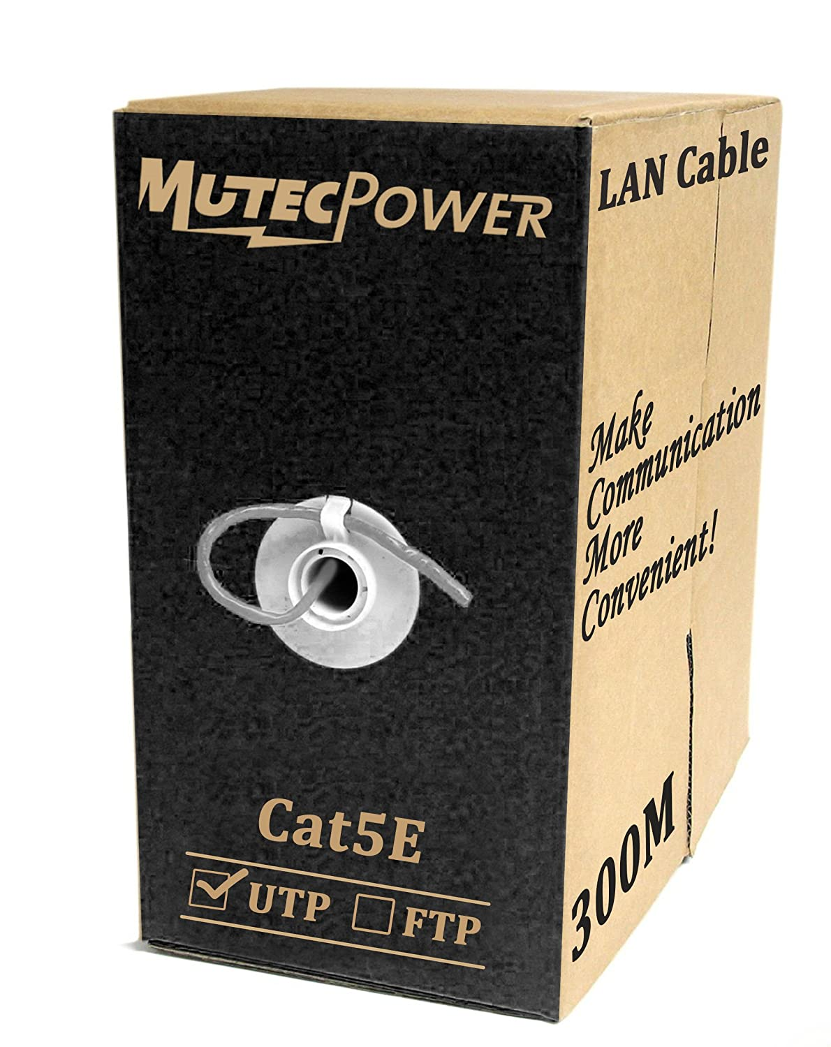 MutecPower CAT5E Indoor Ethernet RJ45 100M CCA Internet Router Web Networking Patch Lead LAN Cable 300ft BLL23N