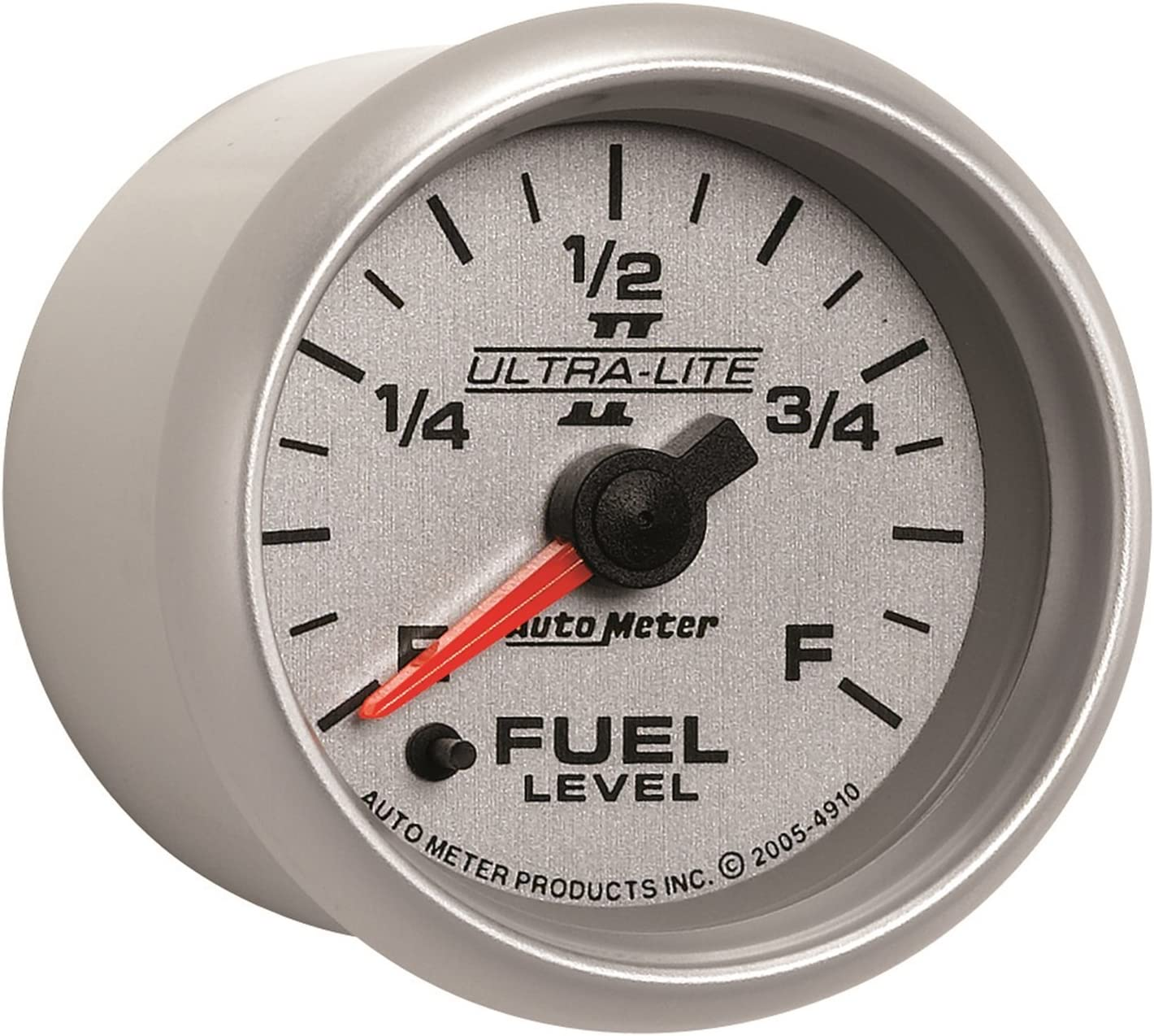Auto Meter 2514 Traditional Chrome 2-1//16 Short Sweep Electric Fuel Level Gauge for GM
