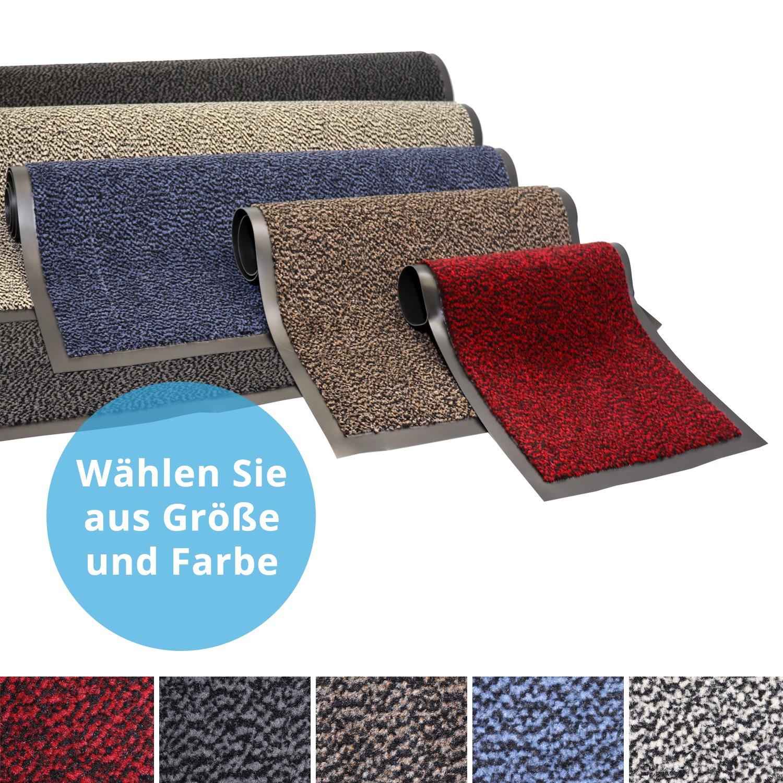 Panorama24 Premium Fußmatte Sauberlaufmatte für Eingangsbereiche 135x200, Farbe  braun - Schmutzfangmatte in 6 Größen als Türvorleger innen und außen