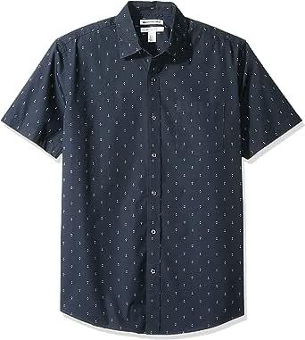 Amazon Essentials - Camiseta de manga corta con estampado para hombre