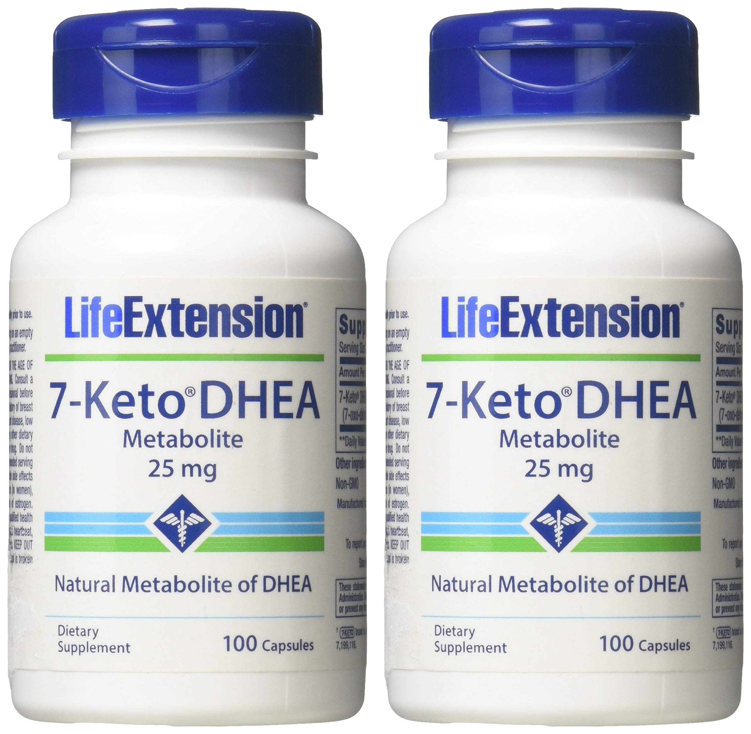 Life Extension - 7-Keto DHEA Metabolite 25 mg 100 caps (Pack of 2) by Life Extension (Image #2)