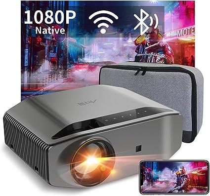 Proyector WiFi Bluetooth 8000 Lúmenes, Artlii Energon2 Proyector Full HD 1080P Nativo Soporta 4K, 300