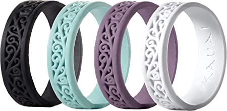Extra Strength and Leading-Edge Comfort 8 Rings//Active X2 Series KAUAI Silicone Wedding Ring for Men 8.5 mm Wide 2.7mm Thick