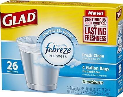 Amazon.com: Glad pequeñas bolsas de basura con olor Escudo ...