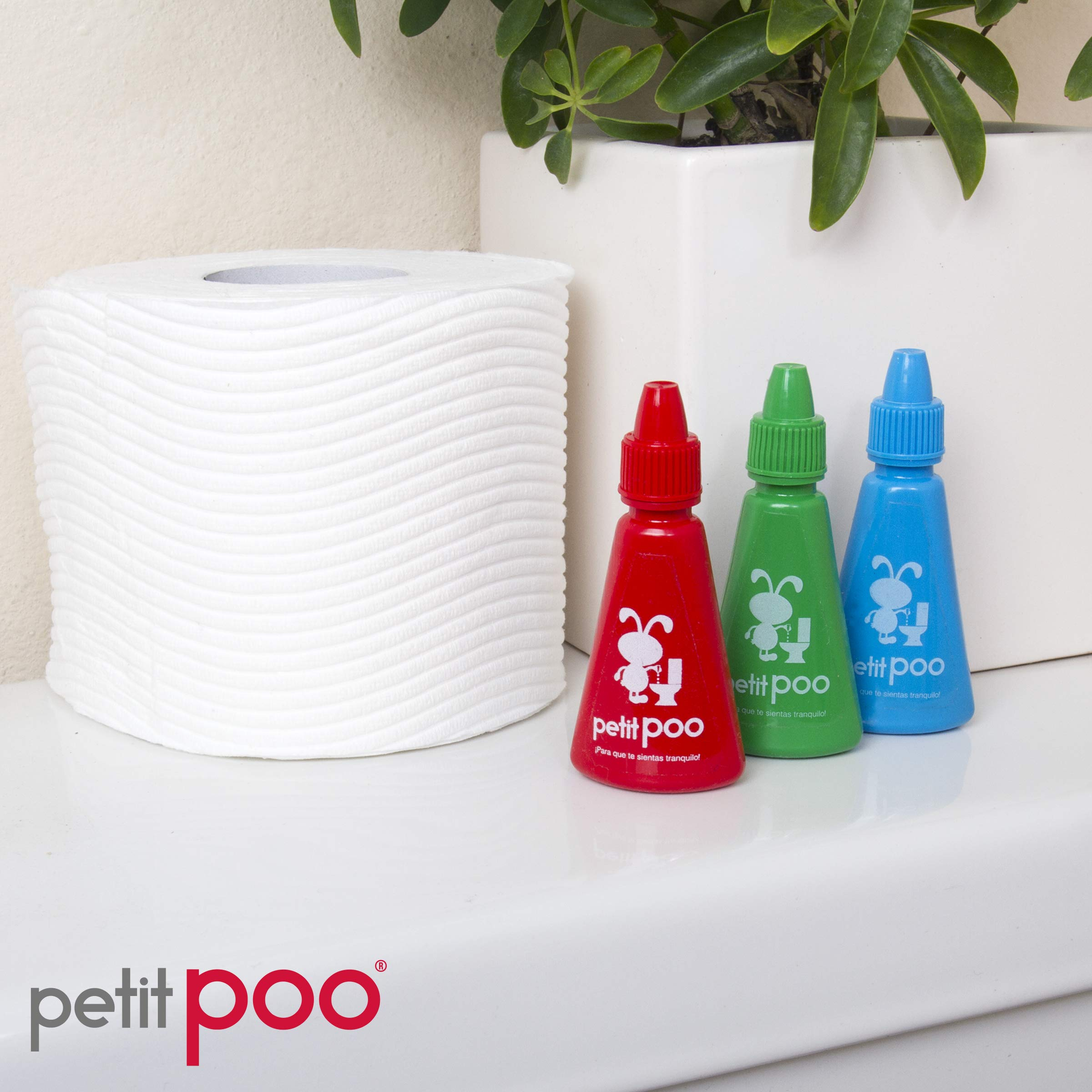 Petit Poo - All Natural Toilet Odor Eliminator Deodorizer Odor Blocker Liquid Air Freshener - Travel Dropper Bottle Value 3 Pack (Assorted)