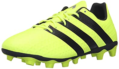 adidas Originals Men's Ace 16.4 FxG Soccer Shoe, Solar Yellow/Black/Metallic  Silver