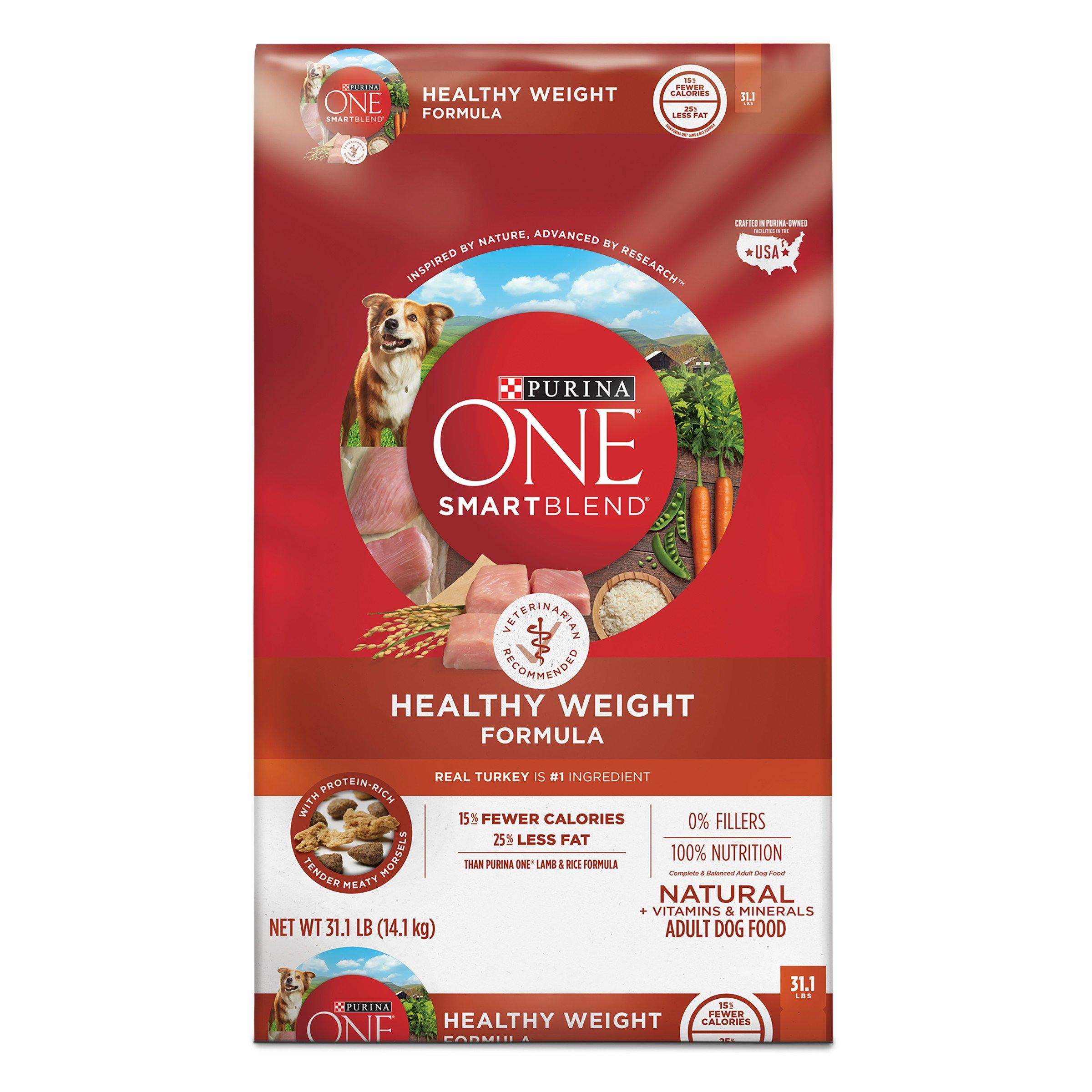Purina ONE SmartBlend Natural Healthy Weight Formula Adult Dry Dog Food - 31.1 lb. Bag
