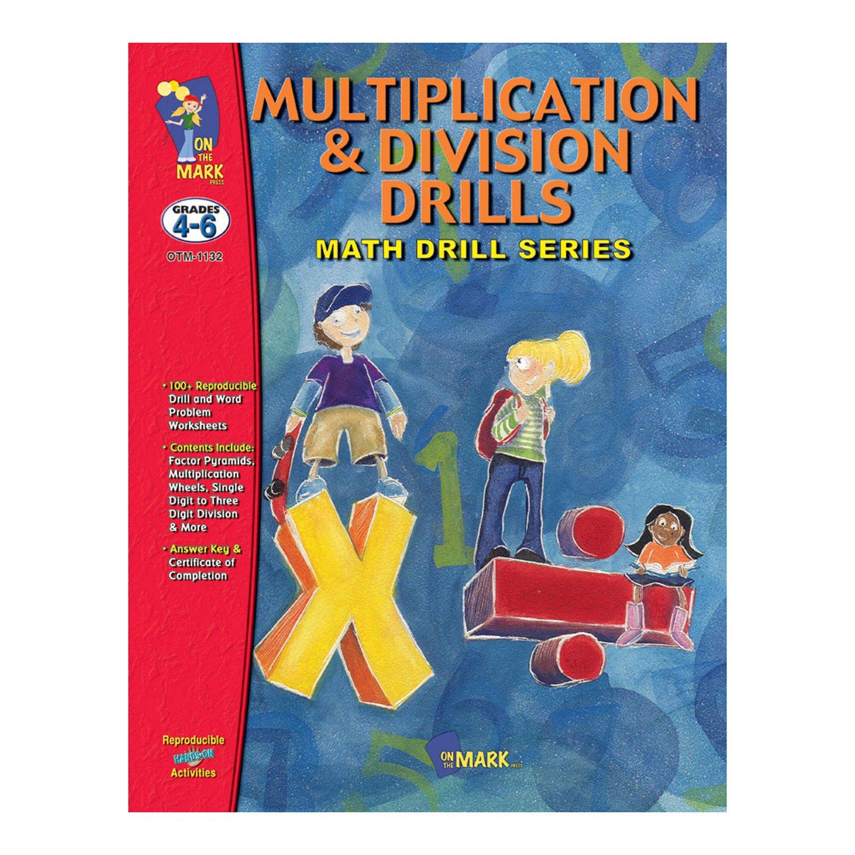 Amazon.com: On the Mark Press OTM1132 Multiplication & Division Math ...