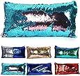 "Magic Reversible Sequins Mermaid Pillow Cases Throw Pillow CoversDecorative Pillowcase 3060cm(1224"") (3060cm Lake blue+pink)"